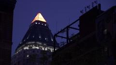 NY-building night - stock footage