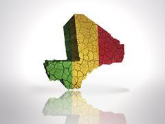 Map of Mali - stock illustration