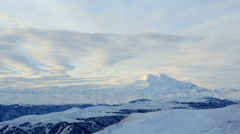 Timelapse sunrise in the mountains Elbrus, Northern Caucasus, Russia. FULL HD - stock footage