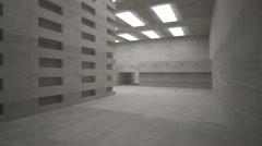Empty dark abstract concrete room interior - stock footage