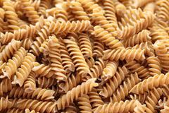 Pasta (Fusilli) - stock photo