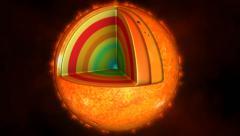 Sun layers animation Stock Footage