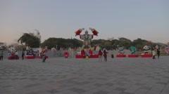 wide angle - 2015 Taiwan lantern festival - Marvel & transformer - stock footage