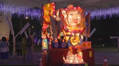 Taiwan Traditional DinTao Folk Lantern festival 2015 Stock Footage
