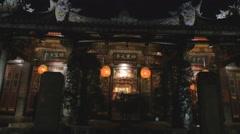 Dalongdong Baoan Temple - dolly shot at night Stock Footage