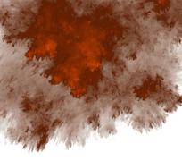 Stock Illustration of Orange storm in the water, fractal generated texture background