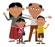 Stock Illustration of Indian family