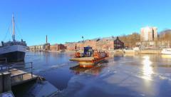 Ferry travelling, timelapse Skandinavia Finland Stock Footage