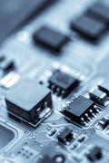 Electronic micro circuit Stock Photos