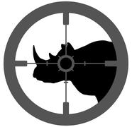 Rhino Endangered - stock illustration
