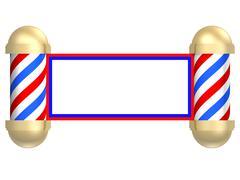 Barbershop scroll Stock Illustration