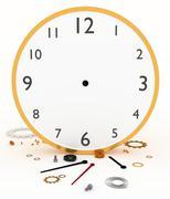 Broken Clock - stock illustration