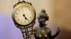 Vintage, antique clocks. Stock Footage
