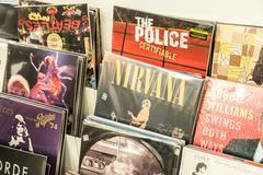 Vinyl Records Featuring Famous Rock Music Kuvituskuvat