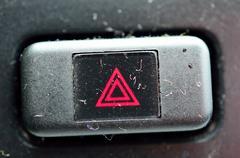 Car hazard light button Stock Photos
