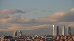 Skyscrapers In Madrid Stock Footage