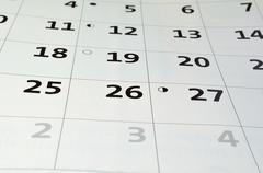blank white personal calendar - stock photo