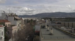 View of Athens City in Greece Stock Footage
