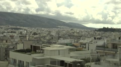 Top view of Athens,Greece Stock Footage