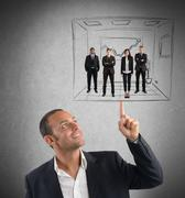 Executive operates with simplicity - stock photo