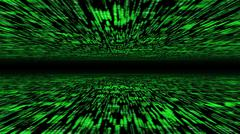 matrix 3d - flying through energized cyberspace - stock photo