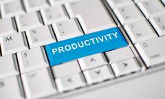 Productivity key on laptop keyboard Stock Photos