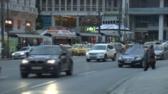 Traffic in Athens,Greece Stock Footage
