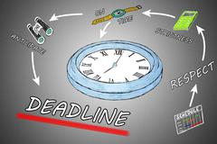 Deadline concept - stock illustration