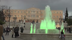 Greek Parliament in Athens, Greece Stock Footage