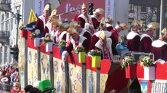 Carnival parade in the city center of Wiesbaden Stock Footage