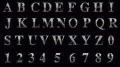 Loop alpha matted diamonds alphabet set Stock Footage