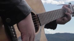 ACOUSTIC GUITAR - stock footage