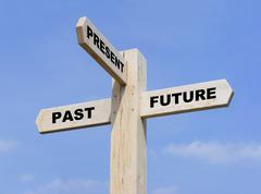 Past Present Future Stock Illustration