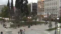 Square in Athens,Greece Stock Footage