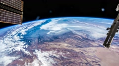 International Space Station ISS Earth View From Space, Iran To India, 96fps Stock Footage