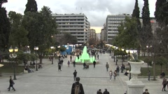 Square in Athens,Greece - stock footage