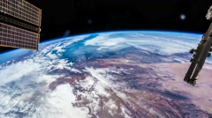 International Space Station ISS Earth View From Space, Iran To India Stock Footage
