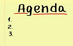 Stock Illustration of Agenda Concept