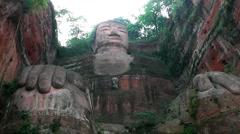 Giant buddha of Leshan Stock Footage