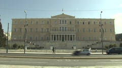 The Greek Parliament Stock Footage