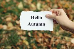 Hello Autumn - stock photo
