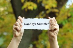Goodbye Summer Stock Photos