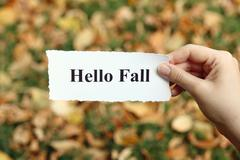 Hello Fall - stock photo