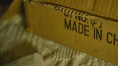 Made in china label Stock Footage