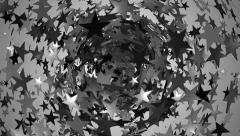 Seamless stars loop in black and white. - stock footage