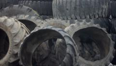 Tire recycling plant Stock Footage