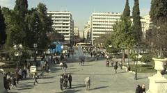 Crowded People in Athens,Greece Stock Footage