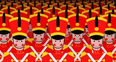 Army of Soldiers Stock Illustration