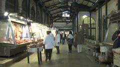Bazaar in Athens,Greece Stock Footage