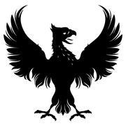 Heraldic eagle Stock Illustration